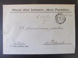 BRIEF Jedousov Choltice Choltitz Prelouc Dienstsache  /// D*19024 - 1850-1918 Imperium