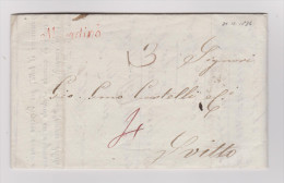Heimat TI Magadino 1836-12-31 Schreibschrift-Stempel Braunrot Vorphilabrief Nach Schwyz - Suisse
