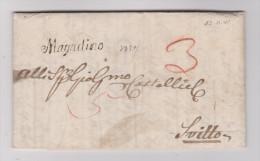 Heimat TI Magadino 1841-11-13 Schreibschriftstempel Auf Vorphilabrief Nach Schwyz - Suisse