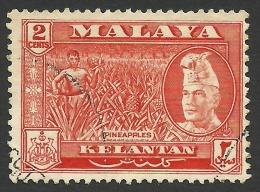 Malaya, Kelantan, 2 C. 1957, Scott # 73, Used - Kelantan