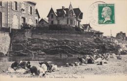 SAINT PAIR SUR MER LES LAVEUSES SUR LA PLAGE - Saint Pair Sur Mer