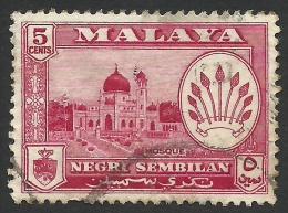 Malaya, Negri, 5 C. 1957, Scott # 67, Used - Negri Sembilan