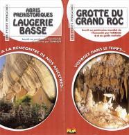 Ancien Dépliant Sur Les  Abris Préhistoriques De Laugerie Basse Et La Grotte Du Grand Roc Les Eyzies De Tayac (Périgord) - Dépliants Touristiques