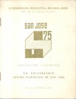 XX ANIVERSARIO DEL CENTRO FILATELICO DE SAN JOSE DE MAYO URUGUAY AÑO 1975 CON PUBLICIDAD CERVEZA CERVEJA BEER BIERE DRAF - Postzegels