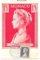 FRANCOBOLLO SU CARTOLINA 23 GENNAIO 1957 VIAGGIATA FG - Used Stamps