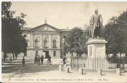 GAILLAC - La Statue Du Général D'Hautpoul Et L'hôtel De Ville - 187 - Gaillac
