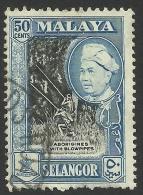 Malaya, Selangor 50 C. 1960, Scott # 109, Used - Selangor
