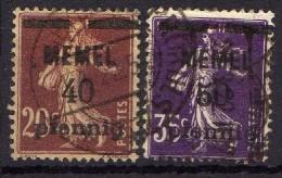 Memel 1920 Mi 22-23, Gestempelt [010216XIV] - Memelgebiet
