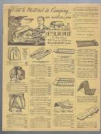 Catalogue Tout Le Matériel De Camping Aux Meilleurs Prix Ets.R.Dupuit Tarif 1957 - Sonstige