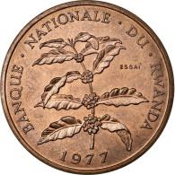 Monnaie, Rwanda, 5 Francs, 1977, FDC, Bronze, KM:E5 - Rwanda
