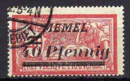 Memel 1922 Mi 60, Gestempelt [010216XIV] - Memelgebiet