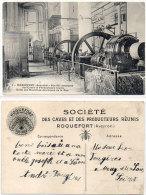 ROQUEFORT - Salle Des Machines Des Caves De La Rue - Pub Fromage Roquefort Société    (84100) - Roquefort