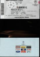 DOC1) BIGLIETTO INGRESSO JUVENTUS MANCHESTER UNITED 1999 CHAMPIONS LEAGUE CALCIO FOOTBALL FORMATO 15,5 X 8 Cm - Match Tickets