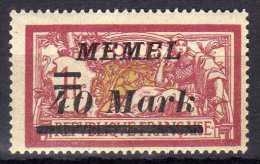 Memel (Klaipeda) 1922 Mi 116 ** [010216XIV] - Memelgebiet