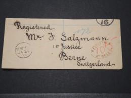 ST HELENE - Fragment D'une Env Recommandée Pour La Suisse - Janv 1897 - A Voir - P 16108 - Sainte-Hélène