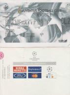 DOC1) BIGLIETTO INGRESSO JUVENTUS NEWCASTLE CHAMPIONS LEAGUE 2002 CURVA SUD - Biglietti D'ingresso