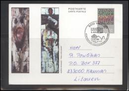 LIECHTENSTEIN 003 003 Stamped Post Card Special Cancellation Art Painting - Stamped Stationery