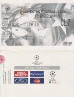 DOC1) BIGLIETTO INGRESSO STADIO DELLE ALPI JUVENTUS BARCELONA 2003 COPPA UEFA?? CALCIO FOOTBALL CHAMPIONS LEAGUE? - Biglietti D'ingresso
