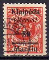 Memel (Klaipeda) 1923 Mi 131, Gestempelt [010216XIV] - Memelgebiet