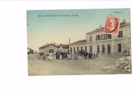 cpa 21 - C�te d�Or - IS sur TILLE - La Gare - la Fa�ade - L.Bardet �dit. - animation - couleur toil�e - 1910 -