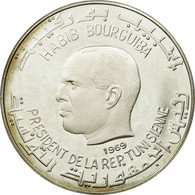 Monnaie, Tunisie, Dinar, 1969, SUP+, Argent, KM:301 - Tunisie