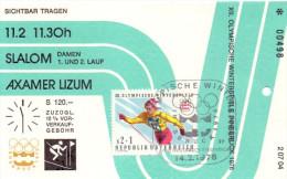 Olympiade Innsbruck 1976 Original Eintittskarte Slalom Damen 11.02.1976 - Ansehen!! - Tickets - Vouchers