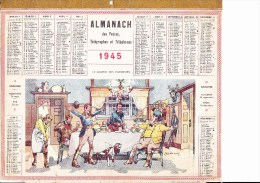 ALMANACH OBERTHURE Illustré Par JOBBE DUVAL 1945 - Formato Grande : 1941-60