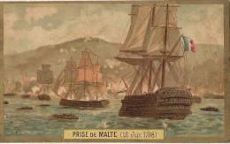CHROMO CHICOREE A LA BELLE JARDINIERE C. BERIOT A LILLE  PRISE DE MALTE 1798 LITHOGRAPHIE PARISIENNE - Chromos