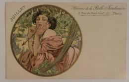 Originale CPA Mucha - souvenird la Belle Jardini�re - Juillet