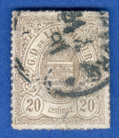 1865 / 73 N° 19  G.D.DE LUXEMBOURG OBLITERE DOS CHARNIERE 2 SCANNE - 1859-1880 Coat Of Arms