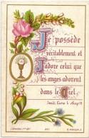 "IMAGE PIEUSE RELIGIEUSE HOLY CARD SANTINI Bouasse N° 291 "" Je Possède Véritablement Et J'Adore .. ""  - Chromo - Images Religieuses"