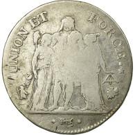 Monnaie, France, Union Et Force, 5 Francs, 1798, Bayonne, TB, Argent, KM:639.6 - J. 5 Francs