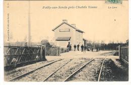 POILLY Sur SEREIN- La Gare Des C.F. Départementaux De L´Yonne. - Autres Communes