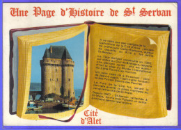 Carte Postale 35. Saint-Servan  à Livre Ouvert   Trés Beau Plan - France