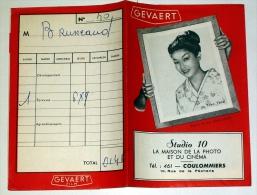 Pochette à Négatifs Gevaert ( Agfa ) Film Studio 10 Photo Cinéma Coulommiers 77 Seine Et Marne -en Photo Yoko Tani Japon - Matériel & Accessoires