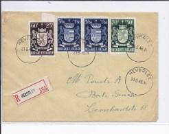 N°71-719-723(3) Herverlee 21.5.45s/l.recommandée V.Bâle - Lettres & Documents