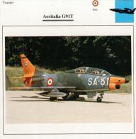 AERITALIA  G 91 T      2  SCAN  (NUOVO CON DESCRIZIONE TECNICA SUL RETRO) - 1946-....: Moderne