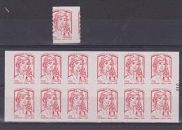 Carnet 851 C 7 type Marianne de Ciappa Rare Rare piquage � cheval + un timbre seul