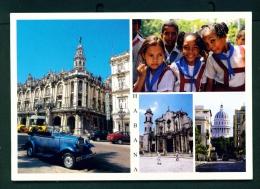 CUBA  -  Havana  Multi View  Used Postcard As Scans - Cuba