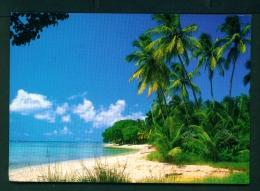 BARBADOS  -  Coast View  Used Postcard As Scans - Barbados