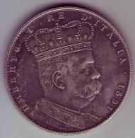 - ERYTREE - 1 Tallero. 5 Lires 1891 - RARE - - Eritrea