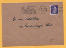Luxemburg / Deutsche Besatzung - Deutsches Reich - Hitler - Stempel: Luxemburg 19.7.1943 Festungs- + Rosenstadt - 1940-1944 Duitse Bezetting