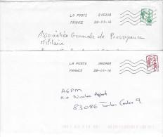 Nouvelles MARIANNE DE CIAPPA De Carnet Sur Lettre .LP +LV .SANS 20g - Marcophilie (Lettres)
