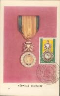 Carte Maximum   Médaille Militaire Centenaire 1952 - Other