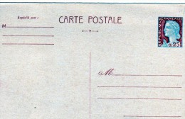 France Entier Repiquage Marianne De Decaris Neuf - Cartoline Postali Ristampe (ante 1955)