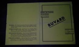 RARISSIME - Buvard Double ( Formant Chemise ) -collège Feminin De Bouffémont  1935 - Format 22 X 28 Cm - Buvards, Protège-cahiers Illustrés