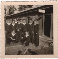 Photo originale Marine PONT REAN Barraque Monge (Saigon) Groupe TRANS 1949