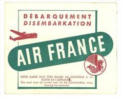 Carte De Débarquement Air France - Cartes D'embarquement