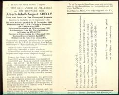 Devotie Doodsprentje - Pastoor Albert Krelly - Oostende 1866 - Brugge - Klemskerke 1950 - Obituary Notices