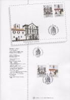 2 SCANS - TIMBRES -1989- PORTUGAL (MADEIRA) - ÉGLISE DU COLÉGIO- Serie Timbres Avec Obliteration 1er. Jour - FUNCHAL - Funchal